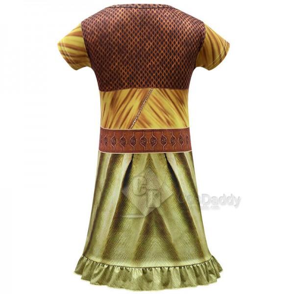 CosDaddy Raya and The Last Dragon Costume Girls Cartoon Printed Princess Dress