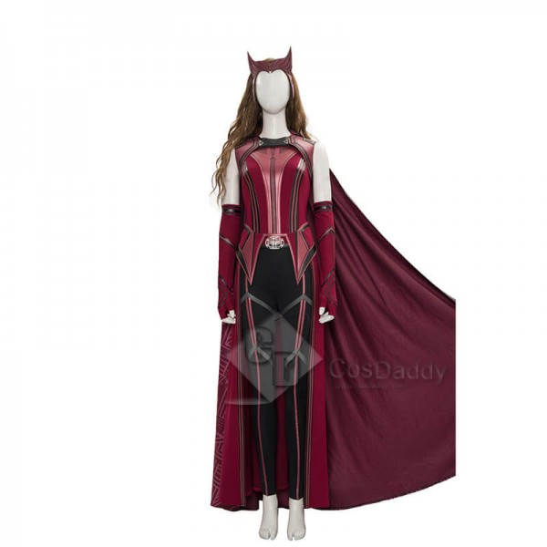 CosDaddy WandaVision Scarlet Witch Cosplay Suit Wa...