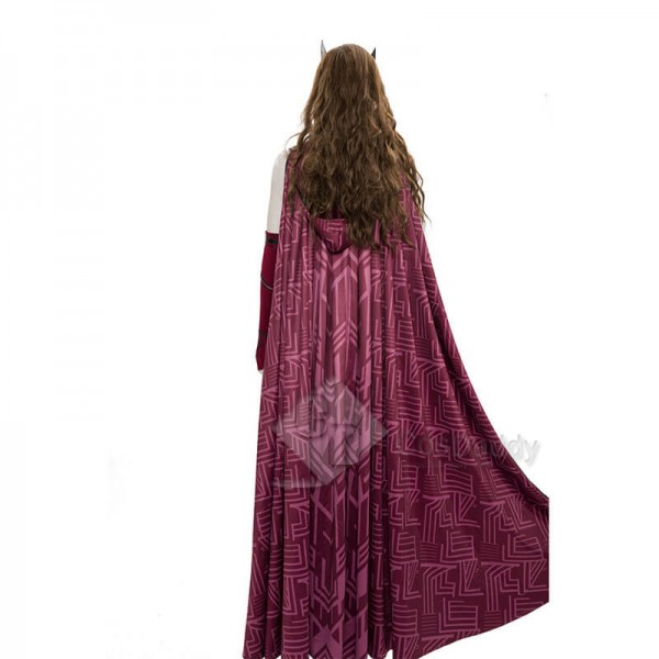 CosDaddy WandaVision Scarlet Witch Cosplay Suit Wanda Halloween Costume