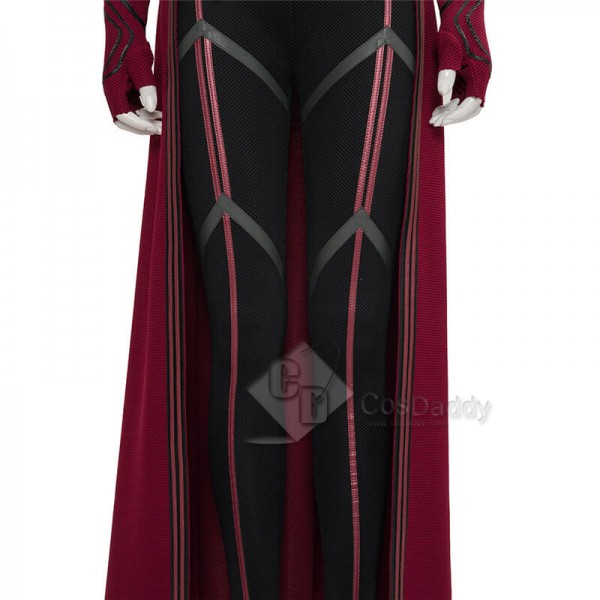 CosDaddy WandaVision Scarlet Witch Cosplay Suit Wanda Halloween Costume