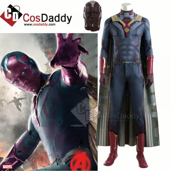 2021 WandaVision Costume Vision Jumpsuit Superhero...