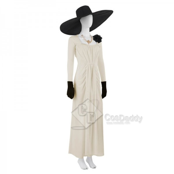 Resident Evil Village Vampire Lady Alcina Dimitrescu Dress Cosplay Costume