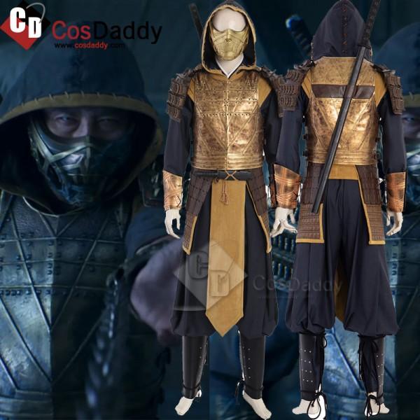 Mortal Kombat Movie 2021 Scorpion Costumes Cosplay...