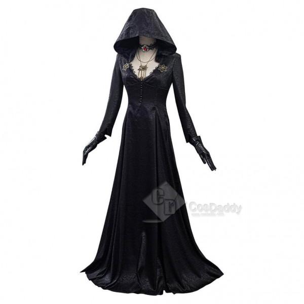 Resident Evil Village Vampire Lady Dress Lady Dimitrescu Halloween Cosplay Costumes