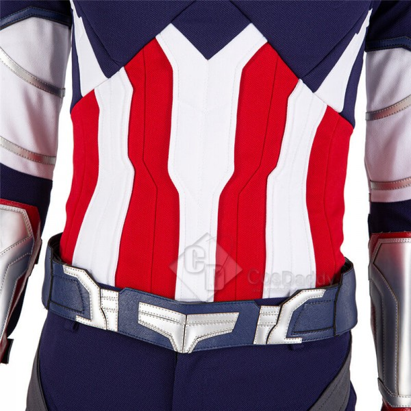 Captain America Sam Wilson Cosplay The Falcon and the Winter Soldier Costumes(Knitting Version)