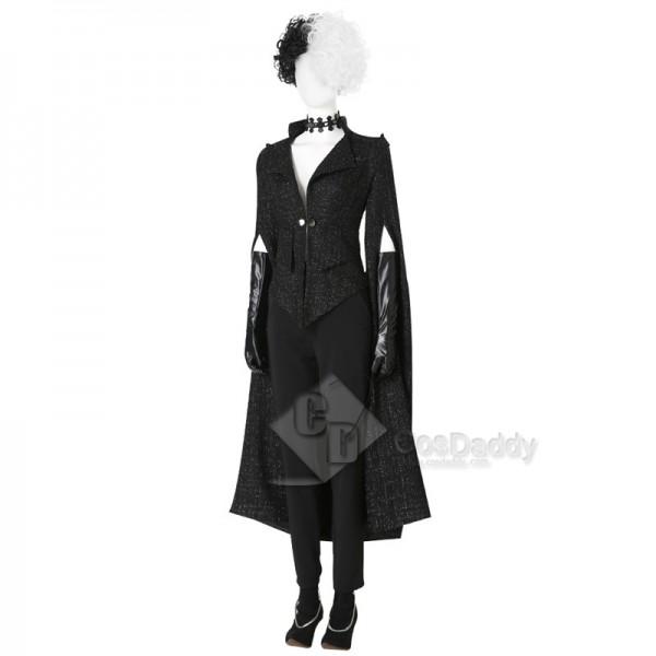 Cruella Cosplay 2021 Disney Movie Cruella Emma Stone Full Suit Costumes