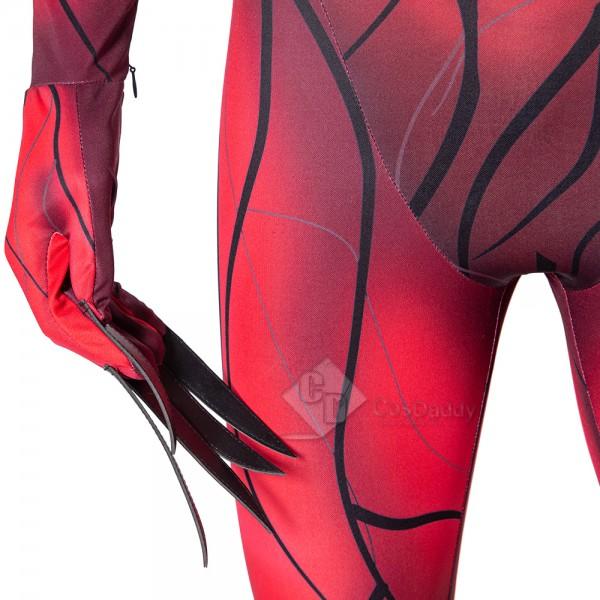 Venom 2 Carnage Cosplay Costume Halloween Bodysuit Spiderman Jumpsuit For Kids Aduilts