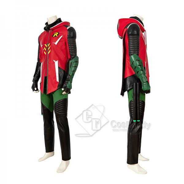 Batman Gotham Knights Red Robin Cosplay Costume Halloween Superhero Outfit