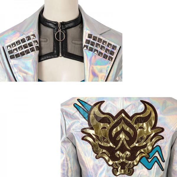League Of Legends LOL KDA Akali Cosplay Costume Sexy Bodysuit Uniform