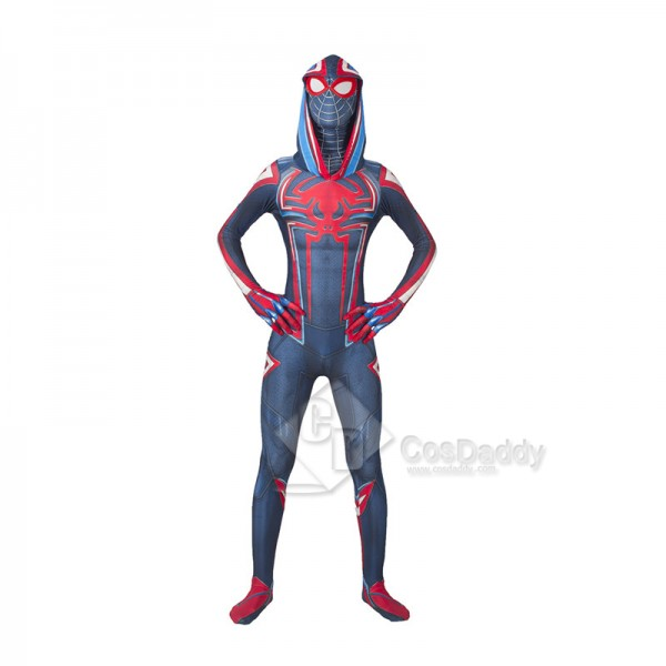 2099 Miles Morales Spider-Man Cosplay Costume Cirm...