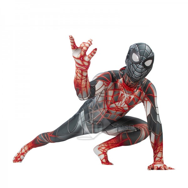 Marvel 2021 Spiderman Miles Morales PS5 Cosplay Costume Programmable Matter Suit