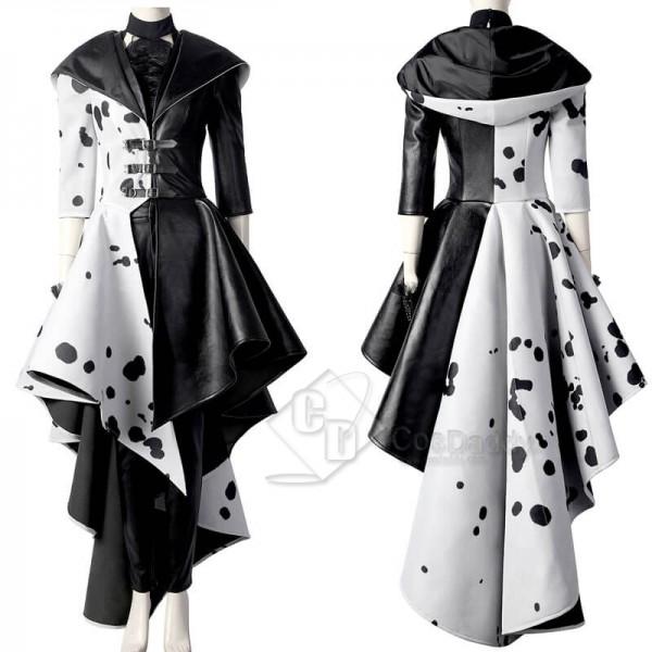 CosDaddy 2021 Cruella De Vil Emma Stone Cruella Halloween Cosplay Suit Costumes