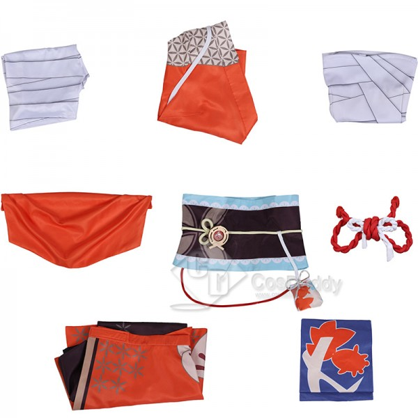 Genshin Impact Yoimiya Xiaogong Cosplay Costume Game Kimono Halloween Carnival Uniform