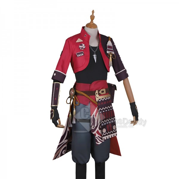 Genshin Impact Tohma Cosplay Costume Game Anime Uniform Halloween Carnival Outfit