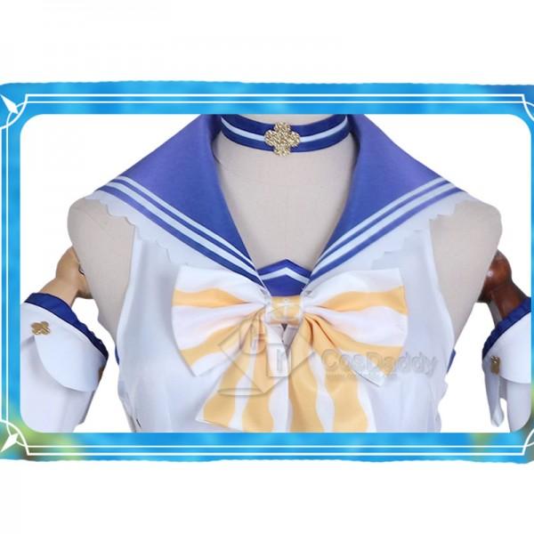 Genshin Impact Barbara Cosplay Costume Sparkle Concerto Game Summer Swimsuit Luxury Version
