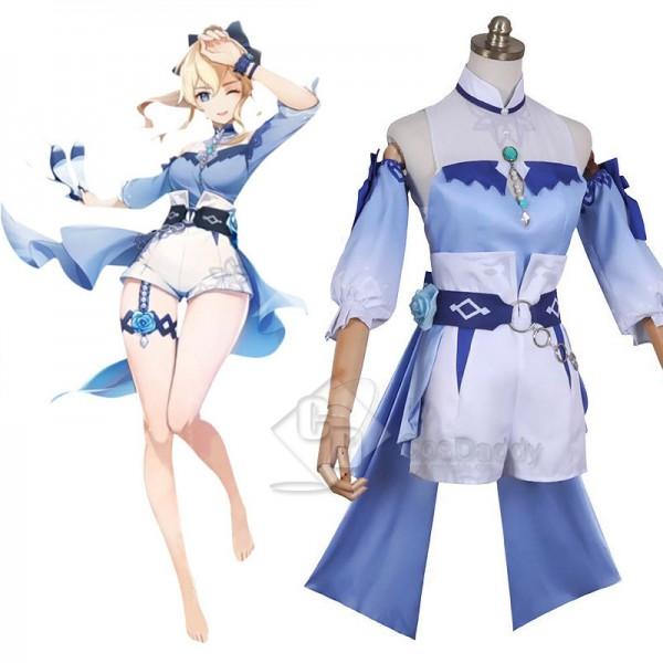 Genshin Impact Qin Cosplay Costume Dream Of The Se...