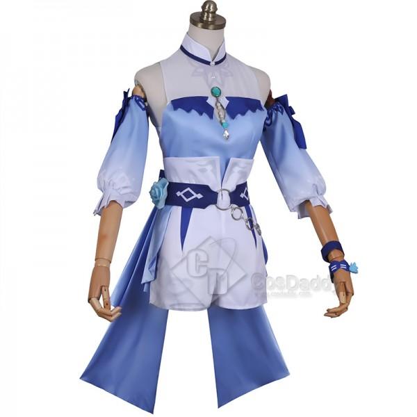 Genshin Impact Qin Cosplay Costume Dream Of The Sea Breeze Dandelion Summer Swimwear