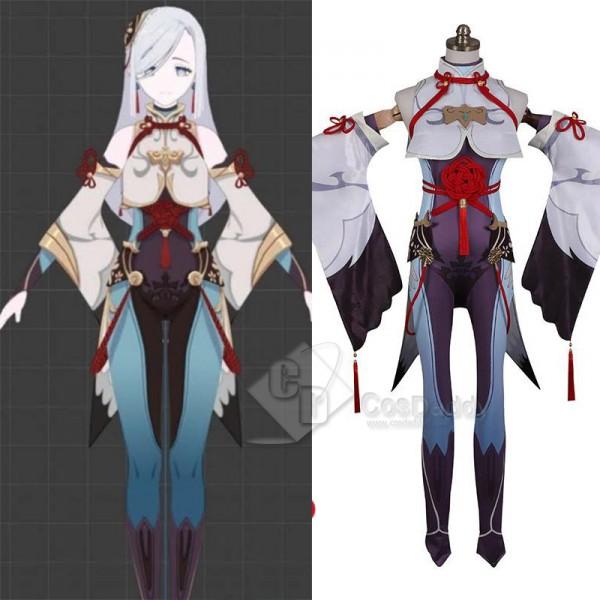 Genshin Impact Crane Cosplay Costume Game Suit Hal...