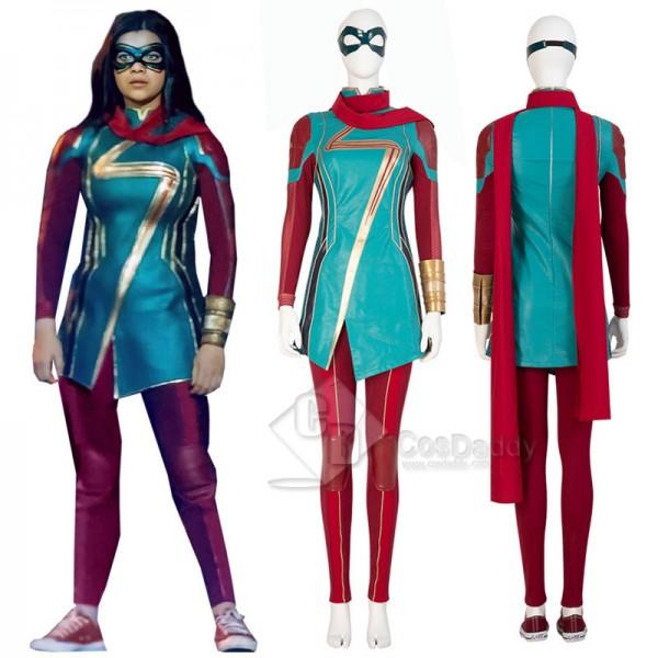2021 Ms.Marvel New Kamala Khan Cosplay Costumes Fe...