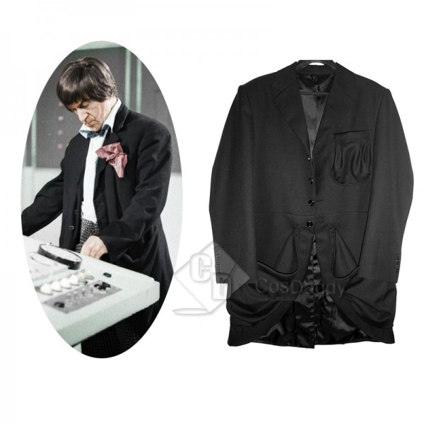 2nd Doctor Black Coat Doctor Who Replica Cosplay Costume