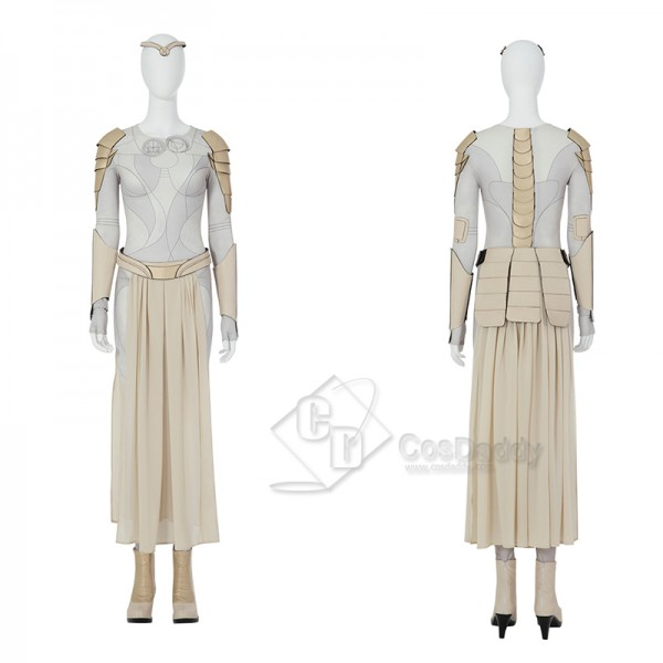 Eternals Thena Cosplay Costume Halloween Carnival Outfit Angelina Jolie Dress