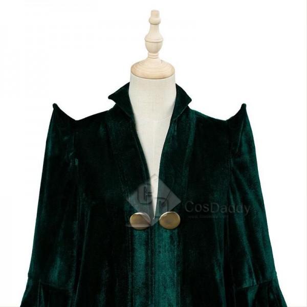 Harry Potter Professor Minerva McGonagall Cosplay Costume Green Robe Halloween Carnival Suit