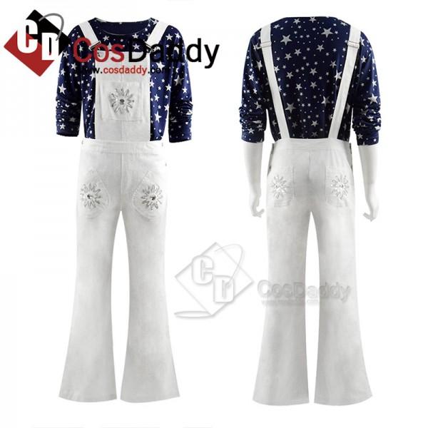 Rocketman Taron Egerton Cosplay Costume Top Pants ...