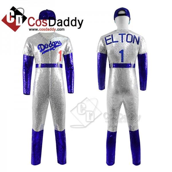 Rocketman Elton John Cosplay Costume Dodgers Baseb...