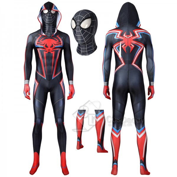 Spider-Man PS5 Miles Morales Cosplay Costume Spide...