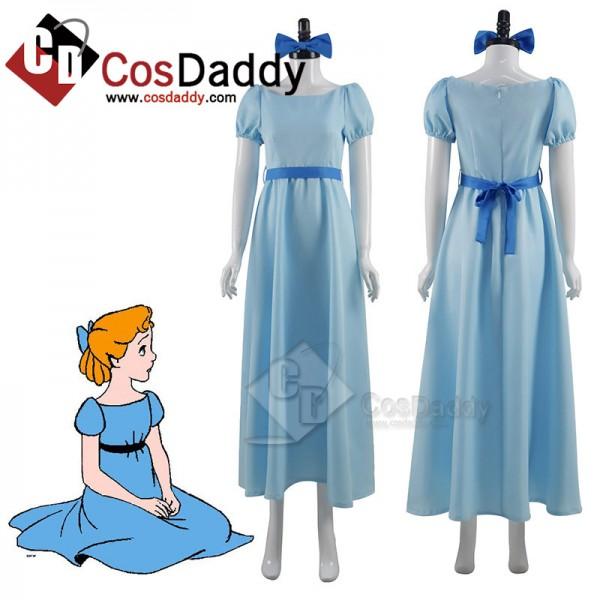Peter Pan Wendy Darling Cosplay Costume Princess B...
