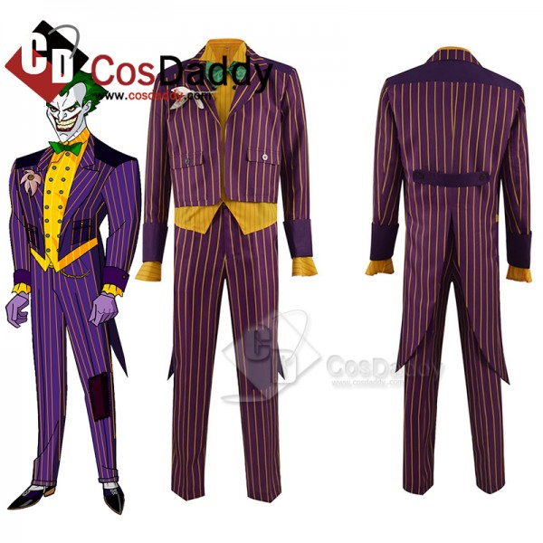 Batman Arkham Asylum Joker Cosplay Costume Purple ...