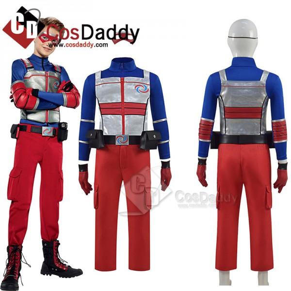 Kids Henry Danger Cosplay Costume Blue Jacket Unif...