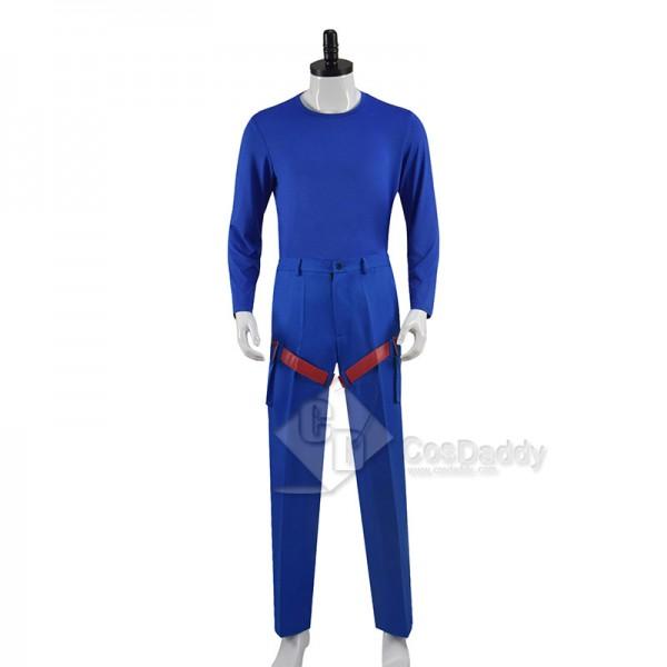 Henry Danger Cosplay Costume Captain Man Uniform Blue Red Suit For Men