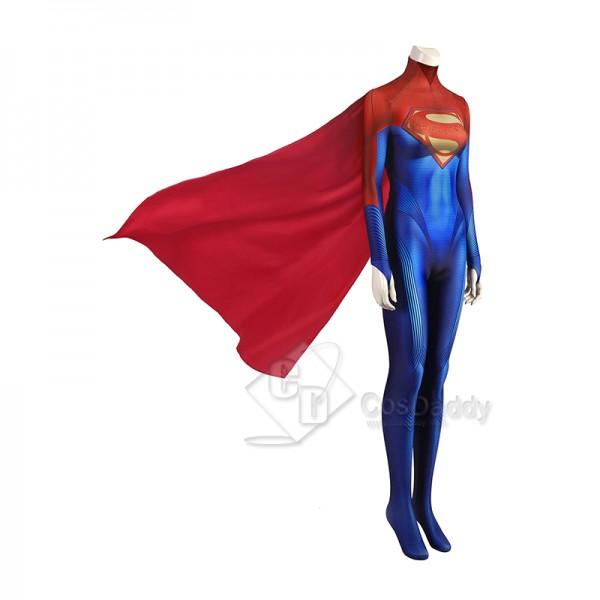The Flash Supergirl Cosplay Costume Superman Bodysuit Superhero Jumpsuit Halloween Suit