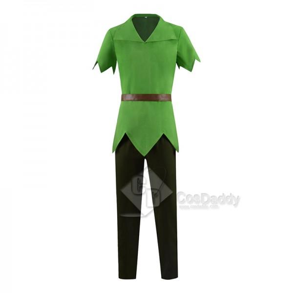 Disney Movie Peter Pan Cosplay Costume Green Fancy Outfit Halloween Suit