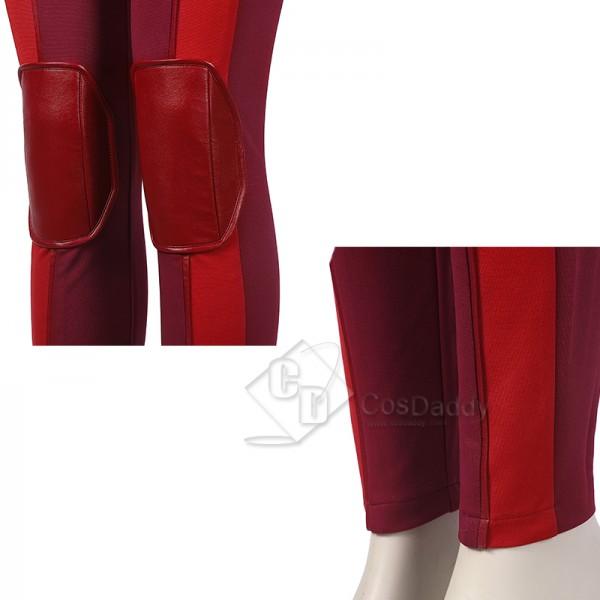 Ms. Marvel Kamala Khan Cosplay Costume Overgirl Jumpsuit Superhero Outfit