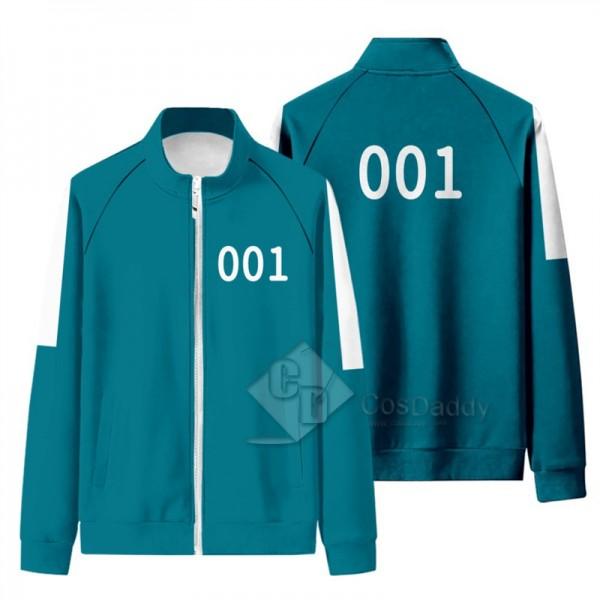 2021 South Korean Movie Squid Game Cosplay Costume  Jacket Pant Uniform Zipper Sportswear