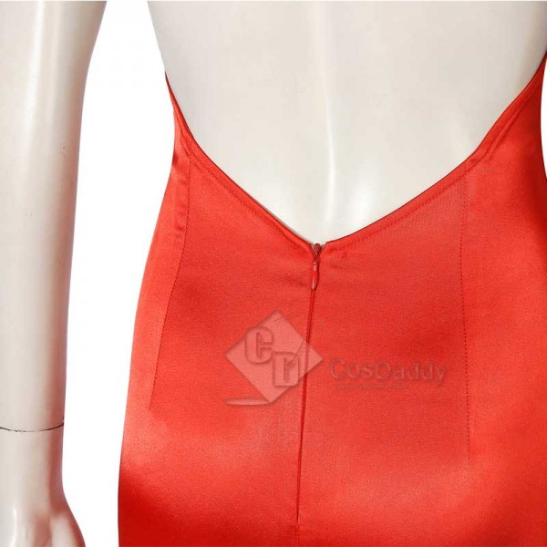 Final Fantasy VII Remake FF7 Aerith Gainsborough Red Dress Halloween Cosplay Costume