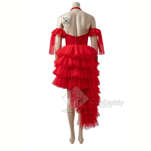 The Suicide Squad 2 Harley Quinn Red Dress Cosplay Costumes CosDaddy
