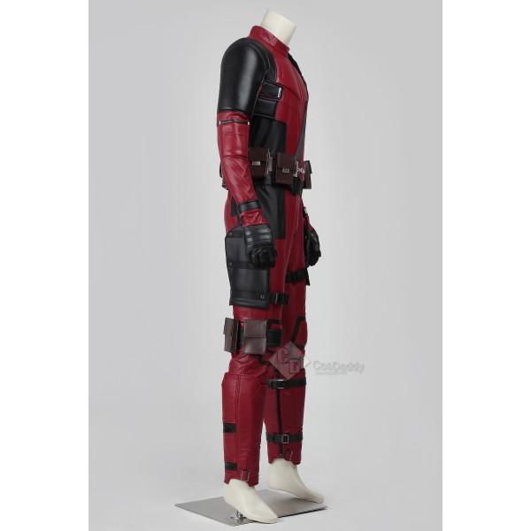 Cosdaddy X-Man Deadpool Wade Winston Wilson Cosplay Red Jumpsuit Battle Costume