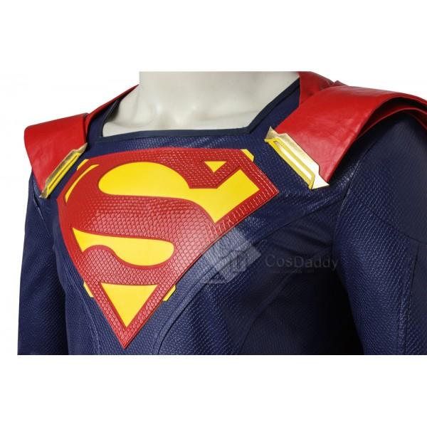 Cosdaddy Supergirl Kal-El Superman Clark Kent Cosplay Costume Battle Suit Uniform for Men