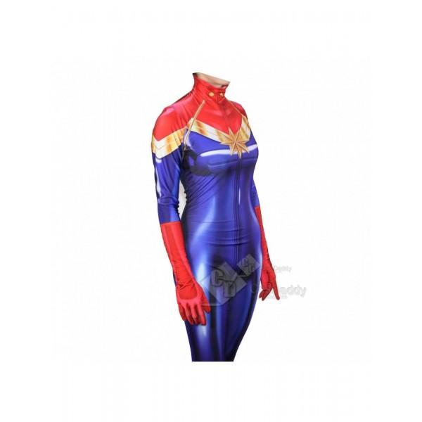 Captain Marvel Ms. Marvel Carol Danvers Cospaly Zentai Bodysuit