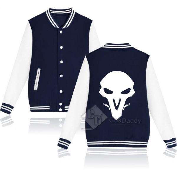 Cosdaddy Overwatch Reaper Gabriel Reyes Pink Black Baseball Jacket Cosplay Costume