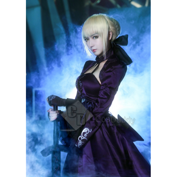 Cosdaddy Fate Zero Black Saber Dress Suit Cosplay ...