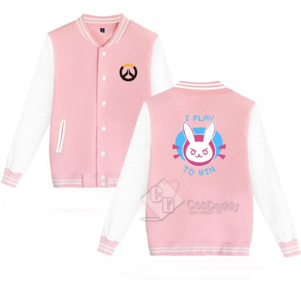 Cosdaddy Overwatch DVA pink black baseball jacket ...