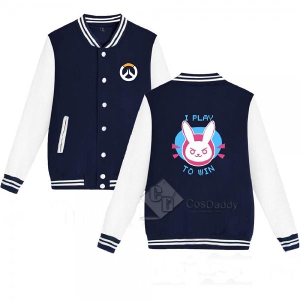 Cosdaddy Overwatch DVA pink black baseball jacket cosplay costume