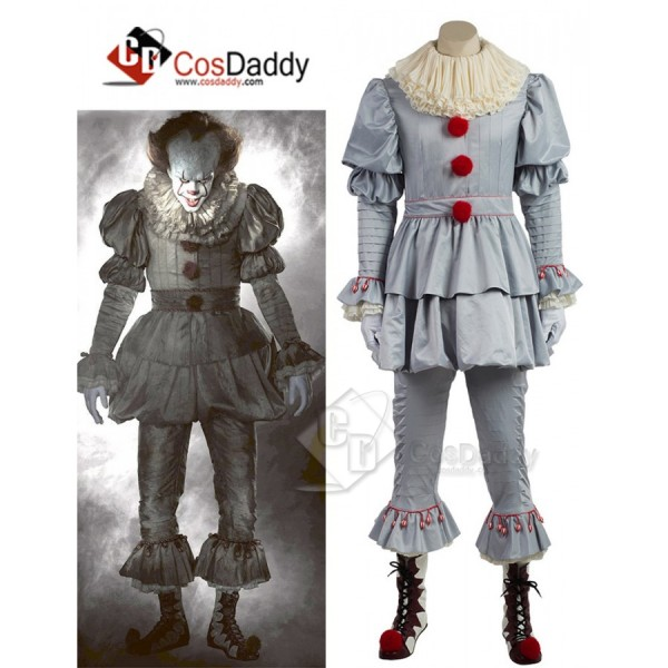 Stephen Edwin King IT the Losers Club Pennywise  Clown Costume 2017