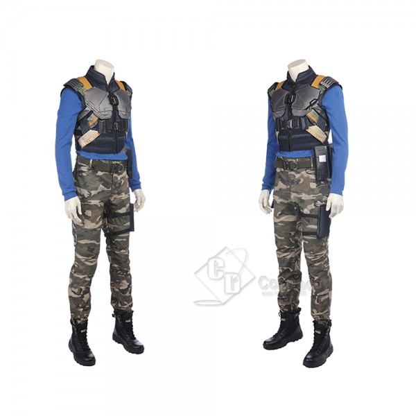 Cosdaddy Avengers Black Panther Cosplay T'Challa Costume Battle Uniform for Men