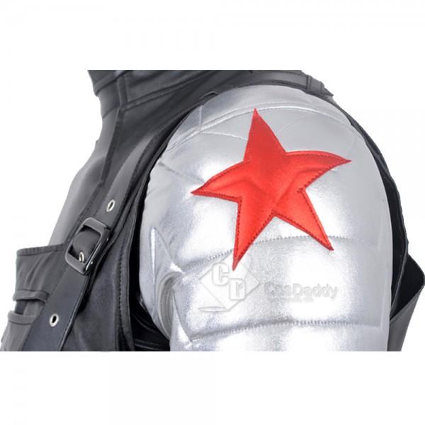 Captain America 2 Winter Soldier James Buchanan Barnes Cosplay Costume Uniform Fullset