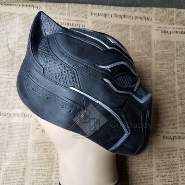 Cosdaddy Marvel Hero T'Challa Cosplay Black Panther Mask
